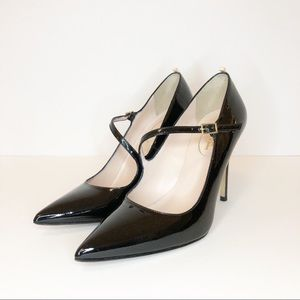 "SJP ""Diana"" Black Patent Leather Mary Jane Pumps"